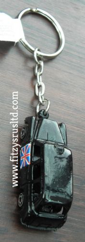 LONDON BLACK TAXI 3D KEYRING ENGLAND UK KEY RING SOUVENIR